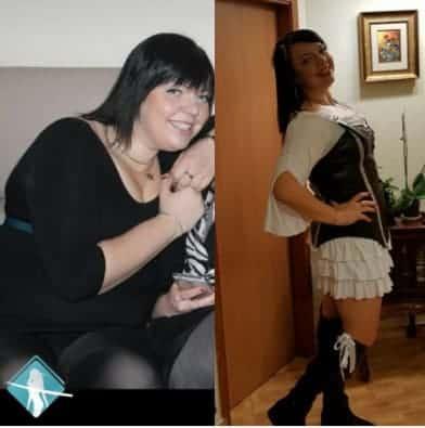 אישה עשתה את דיאטת דש והתוצאות לא איחרו לבוא תמונת לפני ואחרי