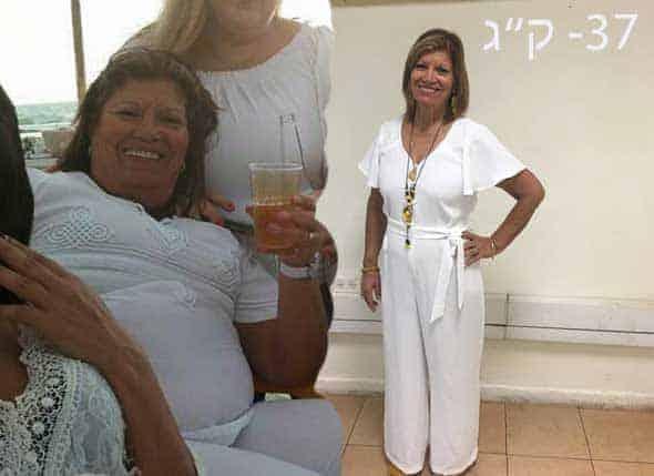 אישה בגיל החמישים עשתה דיאטת דש של לפני ואחרי והתוצאות לא איחרו לבוא