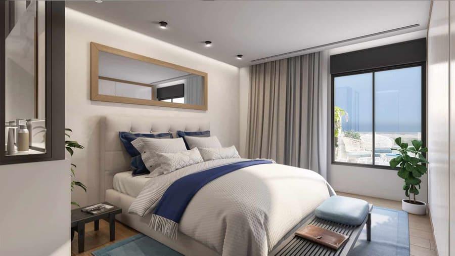 חדר שינה בפרוייקט דירות בוטיק קיסריה