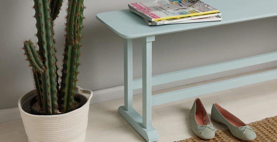 צביעת שולחן בסגנון וינטאג'