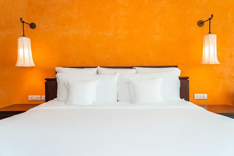 קיר כוח בחדר השינה- צביעת קיר דומיננטי
