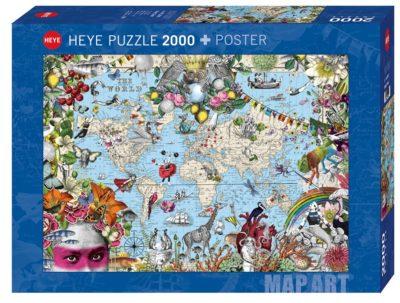 פאזל מפה 2000 חלקים